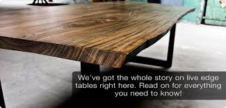 Living Edge Dining Table The Story On Live Edge Dining Tables Modern Digs Llc