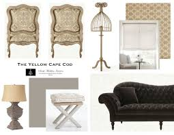 the yellow cape cod mink and butterscotch living room