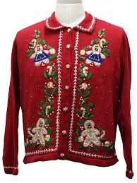 womens ugly christmas sweater womens red
