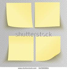 template yellow sticky note isolated on stock vector 573077443