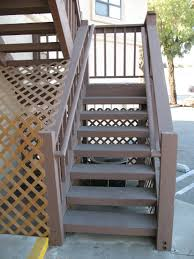 Wooden Stairs Design Outdoor Exterior Exterior Handrail Ideas For Outdoor Properties Brown