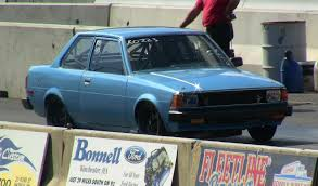 pristine toyota corolla drag race tires got loose nice save 11 2