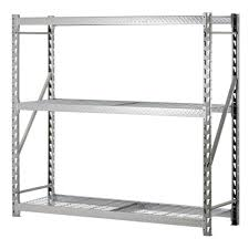 edsal 72 in h x 77 in w x 24 in d 3 shelf steel commercial