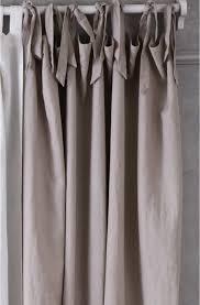 Tie Top Curtains Rafelle Crellini Linen Tie Top Curtain