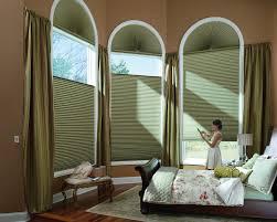 Woven Wood Roman Shades On Arched Window Custom Drapery For Blinds U0026 Shades Dallas Richardson Tx