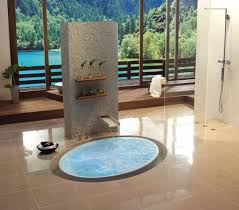 Sunken Bathtub Luxury Bathroom Designs With Sunken Bathtub