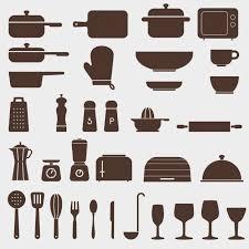 pictogramme cuisine différentes icônes de cuisine pictogramme