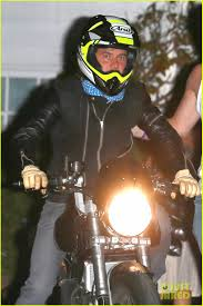 halloween party orlando orlando bloom revs up his motorcycle after big halloween party