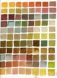 painting colour autumn colours watercolour swatch colour scheme chart greens