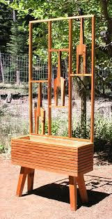 Modern Garden Planters Mid Century Modern Garden Raised Planter Bed Option Mid