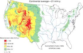 Elevation Map Of The United States by The Impact Of Humans On Continental Erosion And Sedimentation
