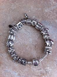 pandora silver chain bracelet images Full silver pandora bracelet one of mine has a solid gold heart jpg