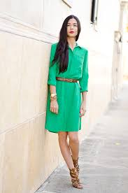 ootd green shirt dress the classified chic