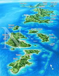 Map Of Fiji Yasawa Islands Group Fiji James Niehues Map Artist Ski Maps