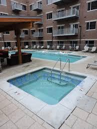 custom gunite swimming pool in downtown omaha ne apartment complex