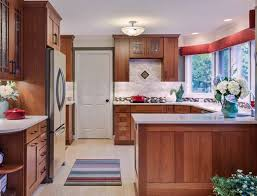 The Key To Great Design Is Contrast White Quartz Countertops - Backsplash for cherry cabinets