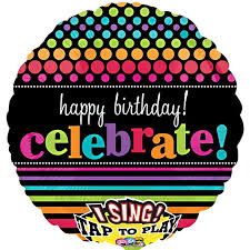 singing birthday balloons times happy birthday singing balloon delivered inflated in uk