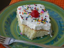 tres leches cake just add sprinkles
