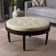 table round tufted ott round living room area furniture lovely