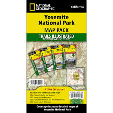 Sequoia National Park Map Yosemite National Park Trail Maps Map Pack Bundle National