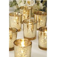 gold plated glass votives wedding decor joann