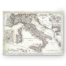 italy sketch map i premium gallery wrapped canvas free