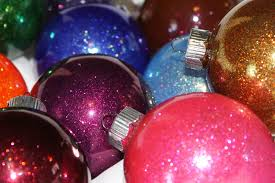 Christmas Glitter Ornaments Sparkly Christmas Ornaments The Crafty Blog Stalker