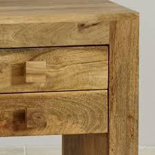 mantis light natural solid mango 2 drawer nightstand oak furniture