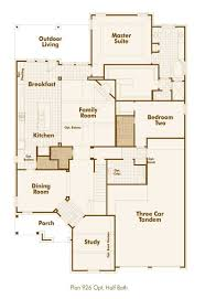 Powder Room Floor Plans by New Home Plan 926 In Forney Tx 75126 Highland Homes House Plans