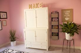 Pink Craft Room - my pink office and craft room reveal design improvised