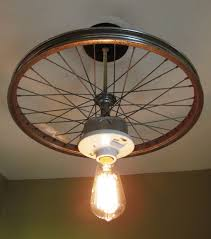 Hanging Ceiling Lights Ideas Hanging Ceiling Light Made From Repurposed Bike Tire Hanging