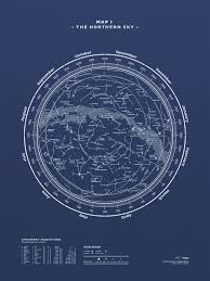 printable star constellation map map i the northern sky night blue stellavie