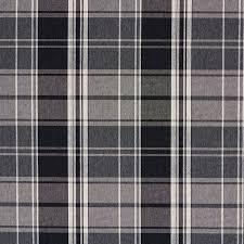 onyx black and gray plaid damask upholstery fabric
