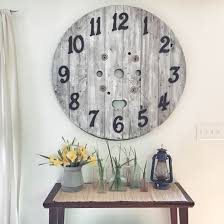 how to hang a diy spool clock is she really