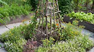 trellises and other supports that blend into the garden u2014 and