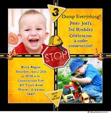 road construction photo invitation caution birthday boy