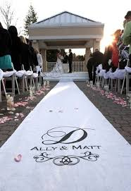 Personalized Aisle Runner Letter Perfect Designs Digital Calligraphy Wedding Aisle Runners