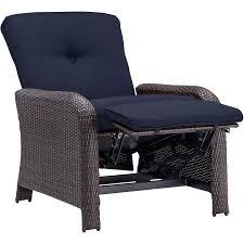 Navy Blue Patio Chair Cushions Strathmere Luxury Recliner In Navy Blue Strathrecnvy