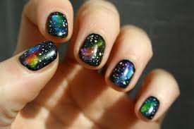 galaxy nails tutorial nail art short nails youtube