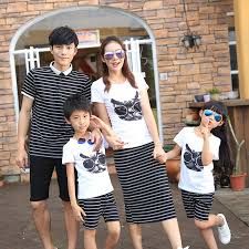 aliexpress com buy family clothes mother father daughter set son