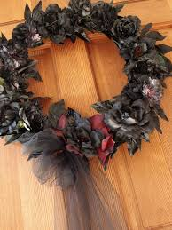 diy halloween funeral wreath the brass paperclip project