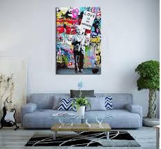 banksy home decor aliexpress com buy gift abstract large banksy art painting love