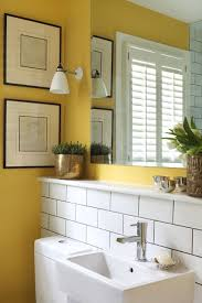 small bathroom design ideas uk yellow paint white industrial tiles small bathroom design ideas