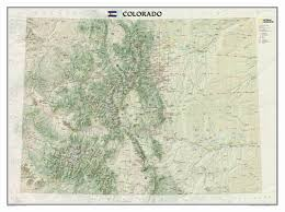 Colorado State Map by National Geographic Maps Colorado State Wall Map U0026 Reviews Wayfair