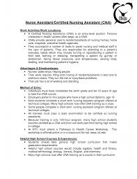 Sample Resume For Cna With Objective by Cna Sample Resume Free Resume Templates