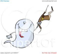 royalty free rf clipart illustration of a flying halloween ghost