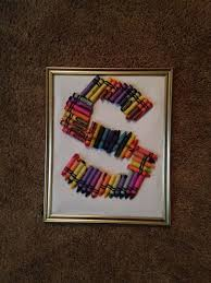 how to make a framed crayon letter 6 steps with pictures