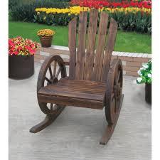 Outdoor Wood Rocking Chair Wagon Wheel Rocker Chair Www Kotulas Com Free Shipping