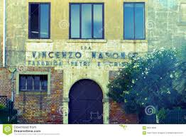 old entrance and building glass factory in murano italy