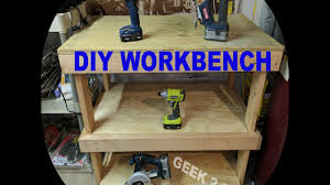 how to build your own garage workbench